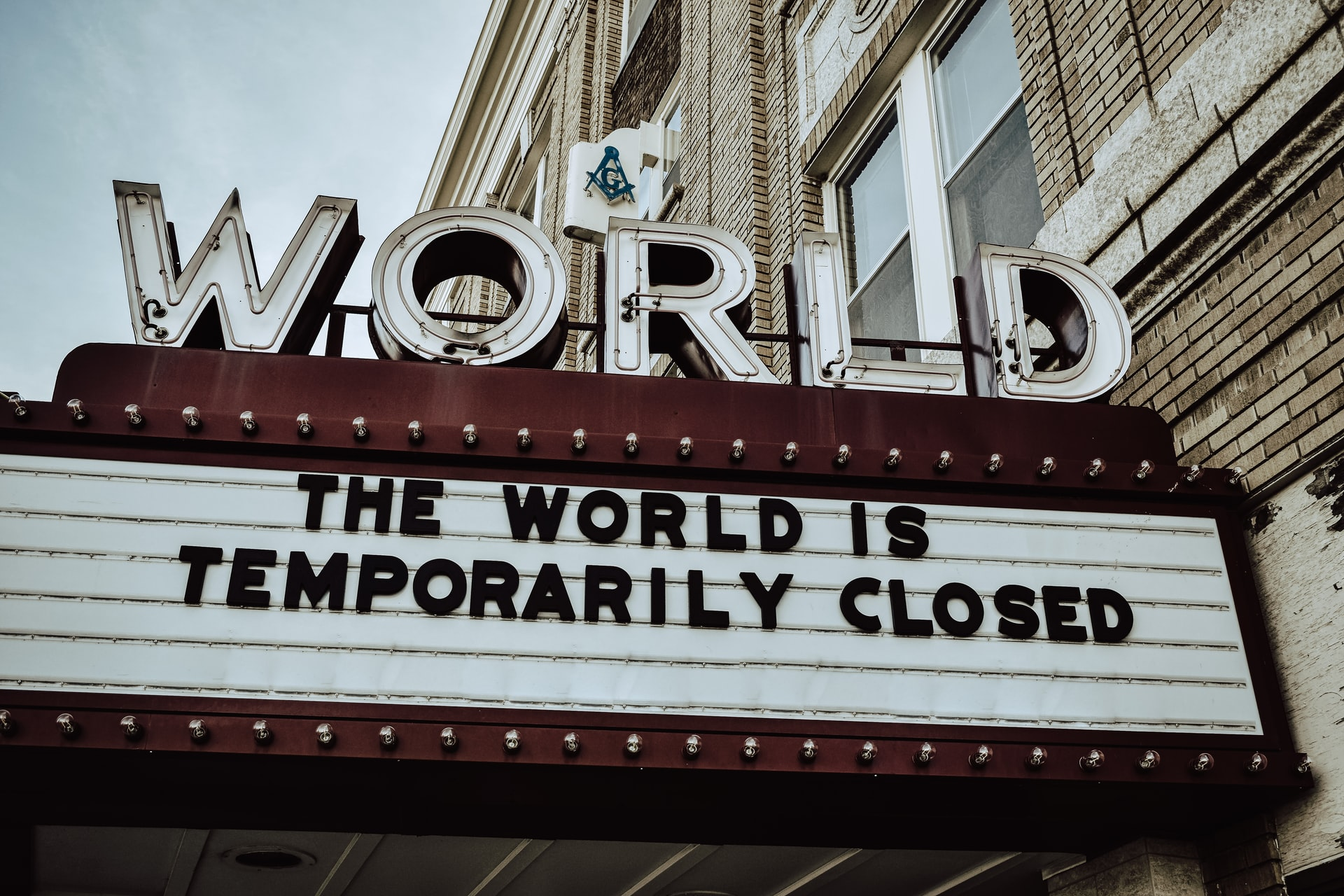 World is closed sign