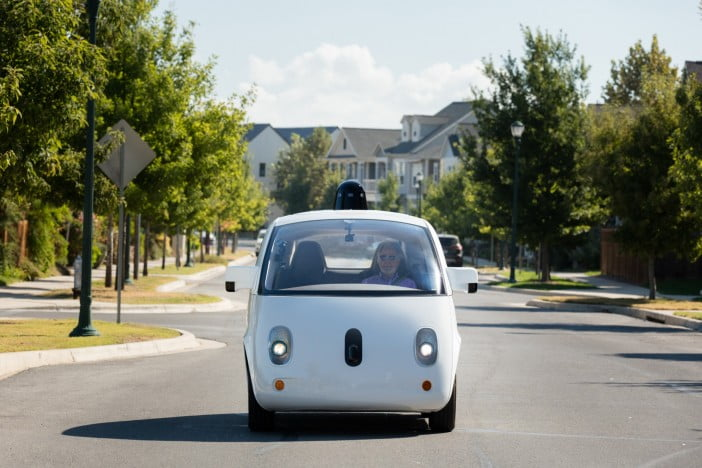 A picture of driverless car by Waymo