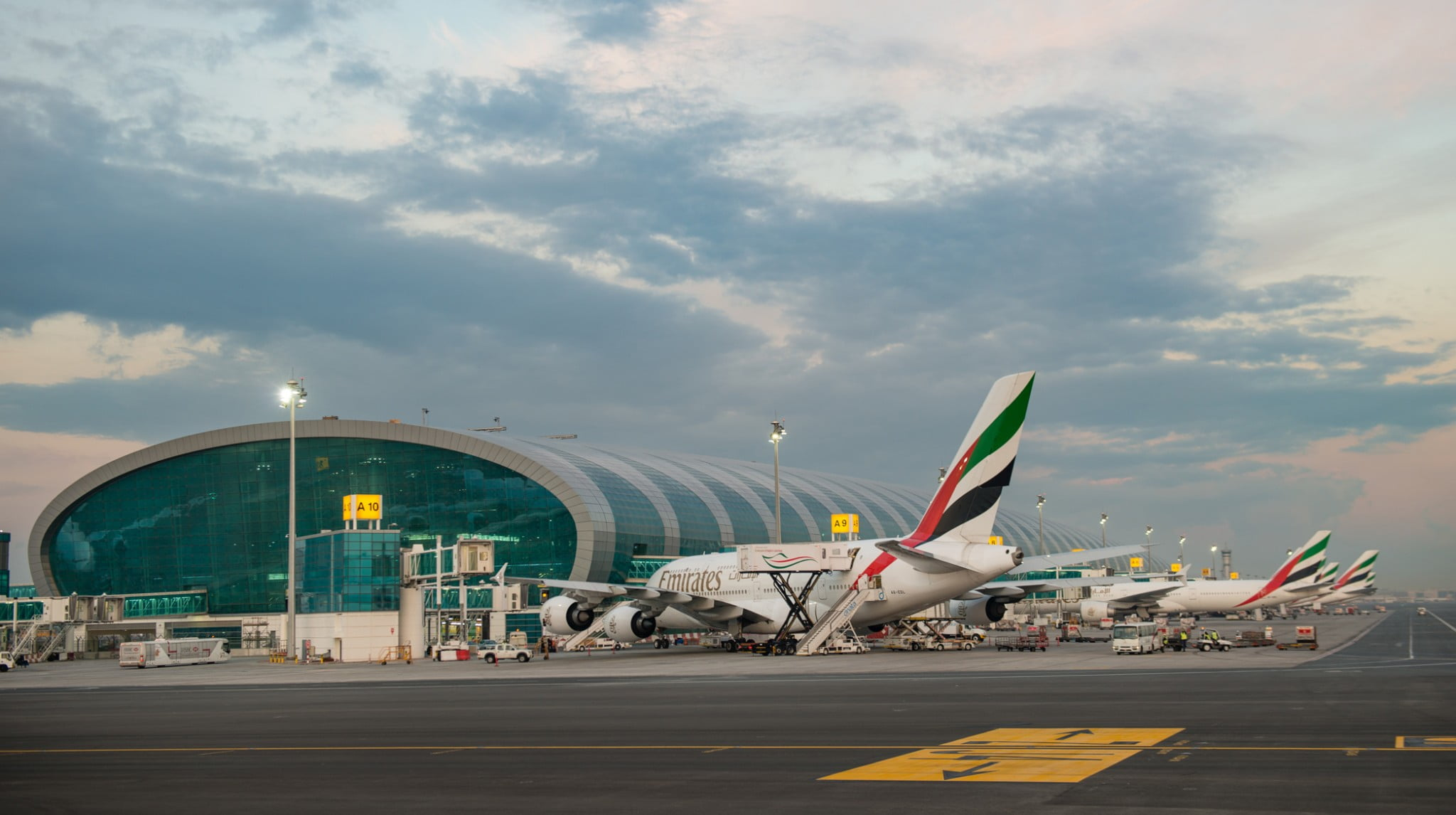 An Airside view of Dubai International Airport