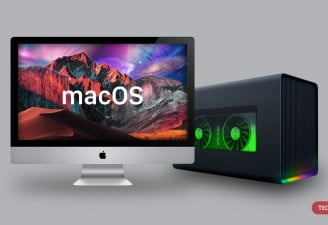 An Image of external graphic card with mac