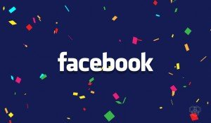 a design with facebook logo for 'facebook continues to grow' article