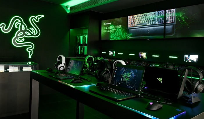 A picture of Razer's gaming accessory store