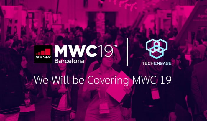 An image with logo of TechEngage and MWC 2019 logo