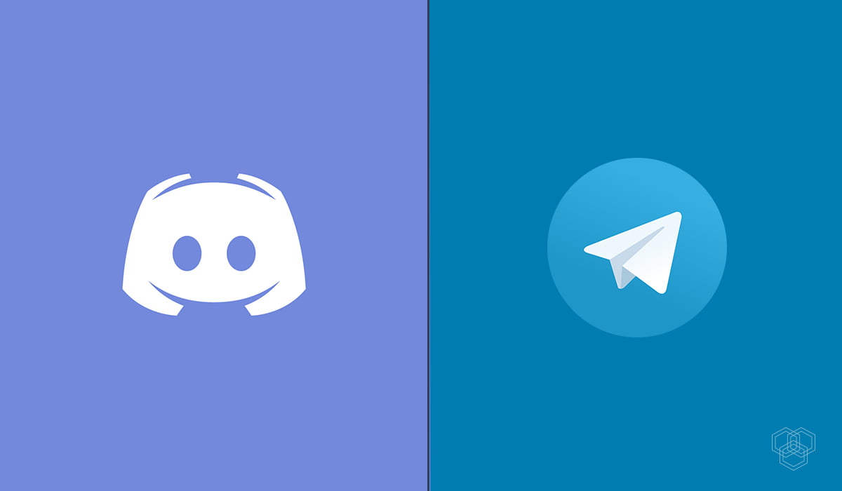 An image with Discord and Telegram logo