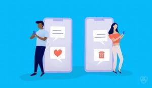 illustration shows unsend messages on facebook messenger