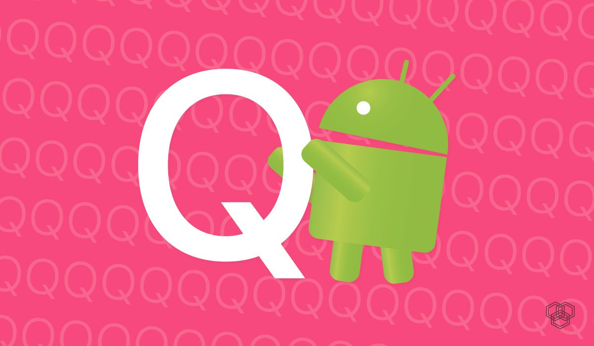 An illustration with Android and Q letter showing