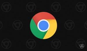 An illustration of Google Chrome dark mode with Chrome logos