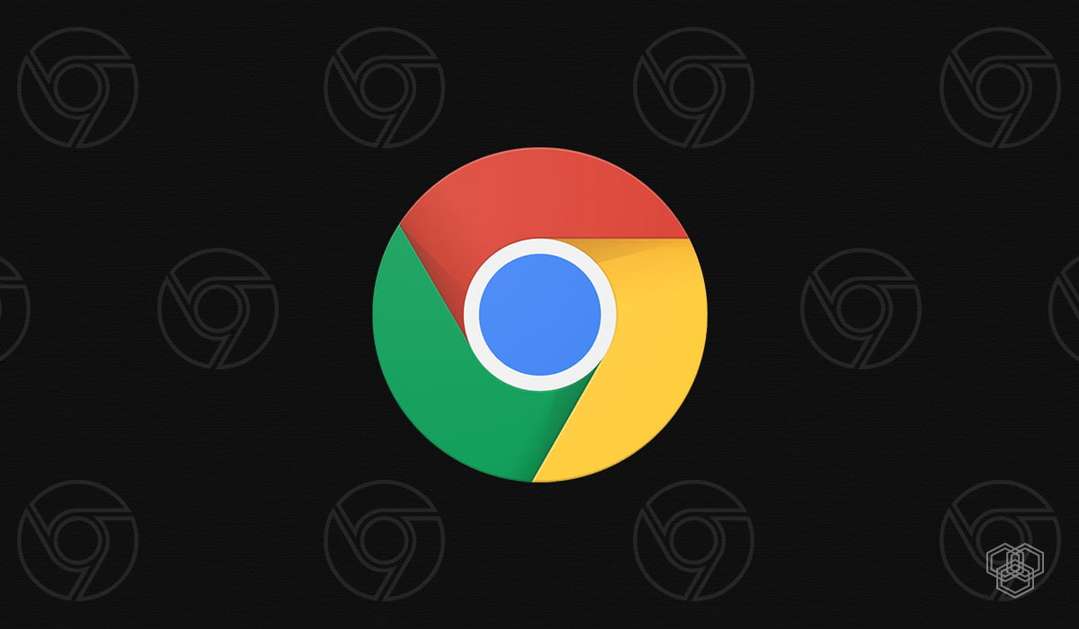 An illustration of Google Chrome dark mode with Chrome logos
