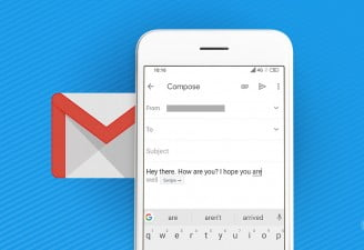 A featured image for enabling Gmail Smart Compose on Android phone