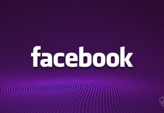 An illustration of facebook logo with dotted background