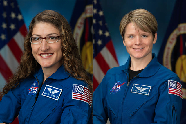 Portraits of two women from NASA