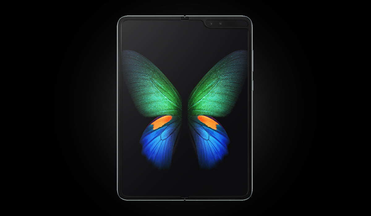 A press gallery photo of unfolded Samsung Galaxy Fold