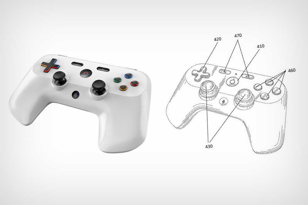 A render of Google's Project Stream game controllers designed and rendered by Sarang Sheth of Yanko Design