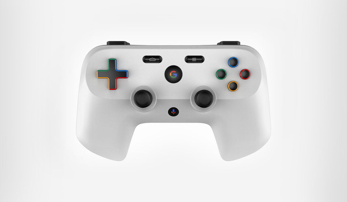 A render of possible Google's game controller by artist