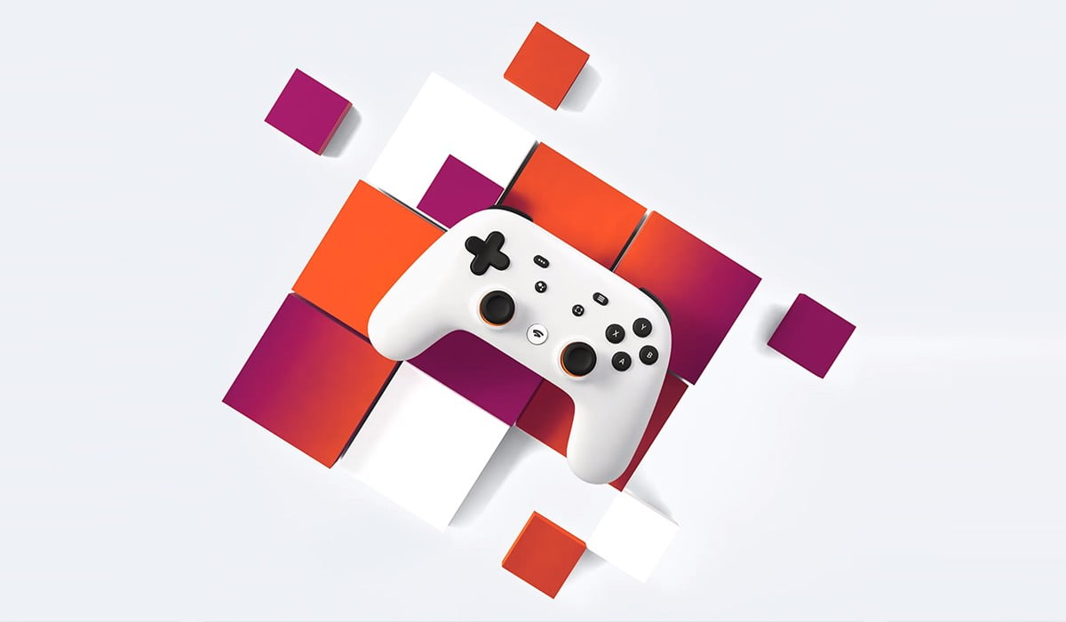 An image of Google Stadia controller