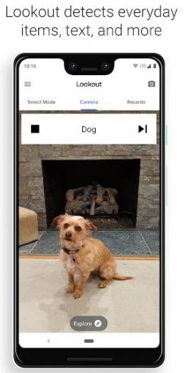 Google Lookout running on Pixel 3 XL