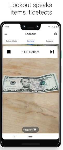 Screenshot of lookout app on Google Pixel 3 XL