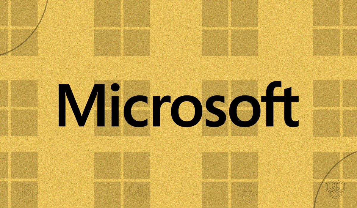 An illustration of Microsoft logo