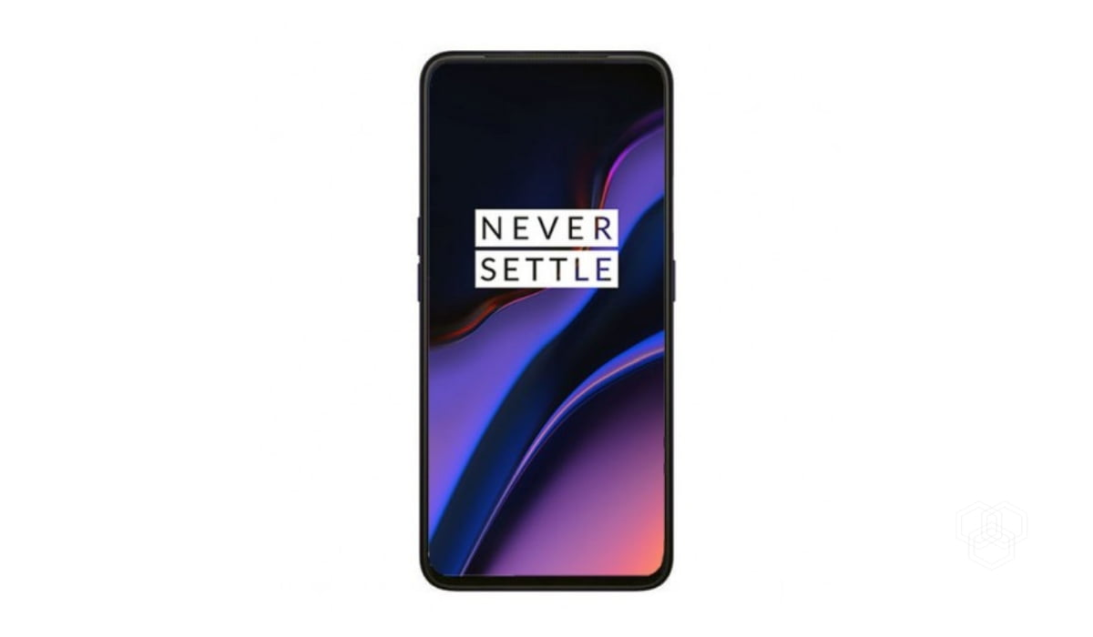a render of OnePlus 7 listed on a retail website