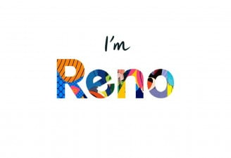 An image showing Reno brand logo by Oppo