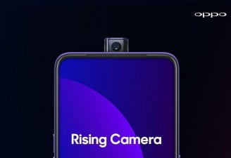 a press render of Oppo F11 pro showing pop-up camera aka rising camera