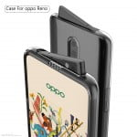 A possible case overview of Oppo Reno phone with a swivel pop-up camera