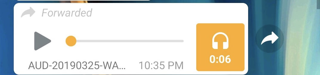A screenshot of forwaded message on WhatsApp