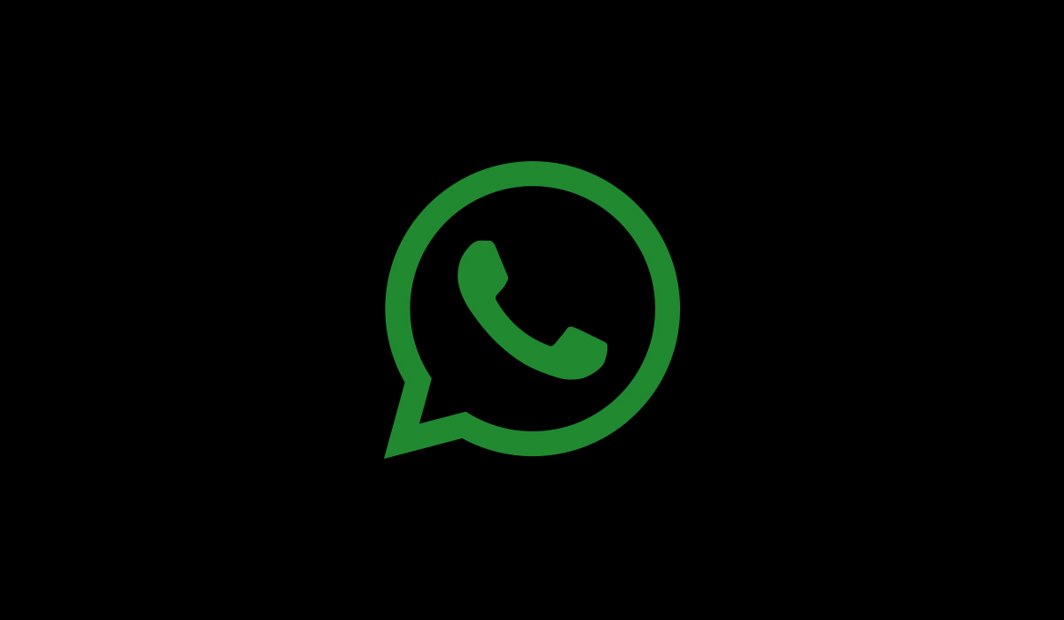 An illustration of WhatsApp icon with black background