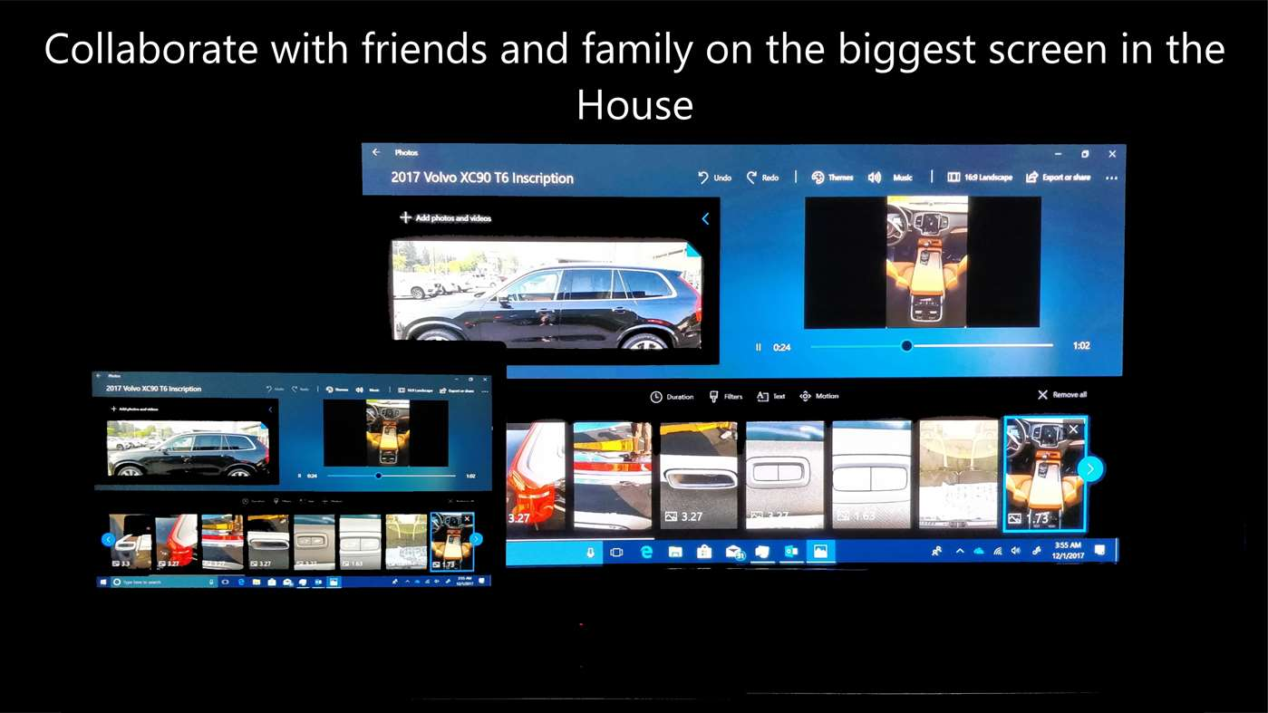 Collaborate with friends and family on he biggest screen in the house