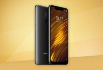 An image of Xiaomi Pocophone F1 front and backside
