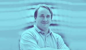 A portrait of Linus Torvalds, founder of Linux