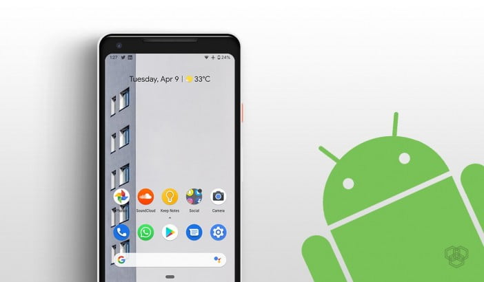 Pixel 2 XL home screen with Android