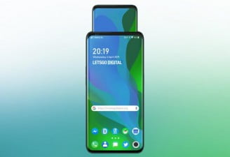 A concept render of new Oppo phone with pop-up display