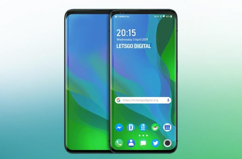 An image of Oppo's phone with pop-up display