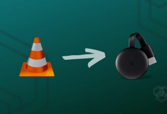 A featured image design for post named how to cast video from VLC Media Player to Chromecast