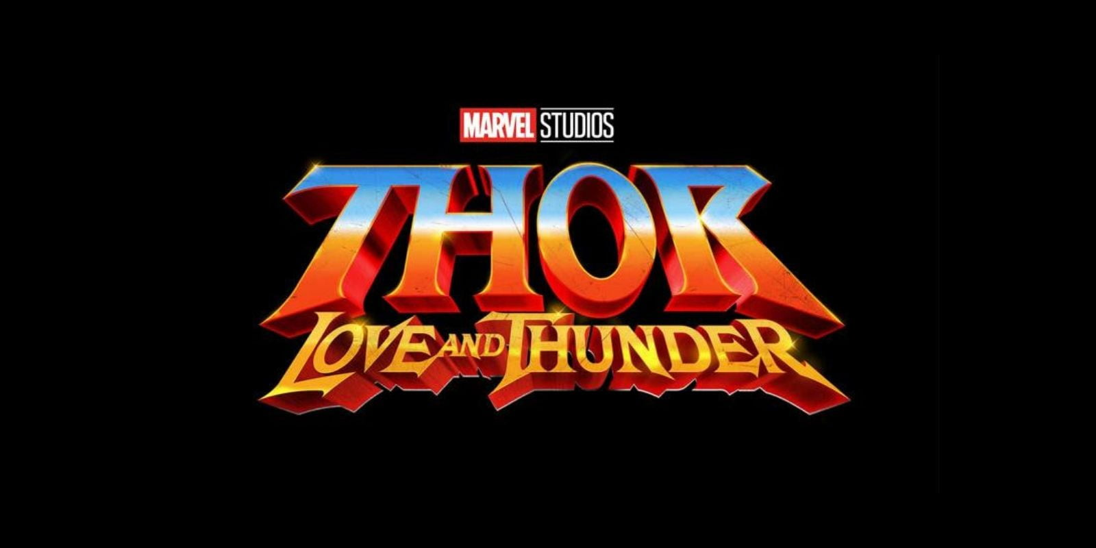 Thor: Love And Thunder movie logo from Marvel Phase 4