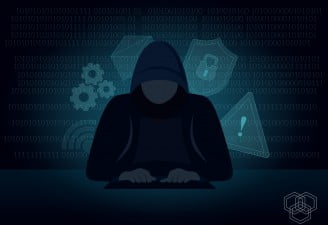 An illustration representing a hacker