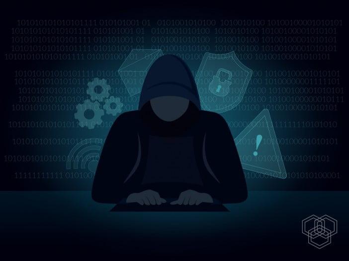 An illustration representing a hacker