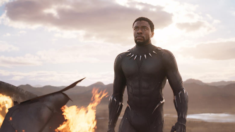 Photo of T'Challa aka Black Panther in Marvel Studio's Black Panther movie