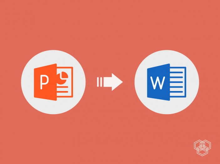how to convert powerpoint file to word