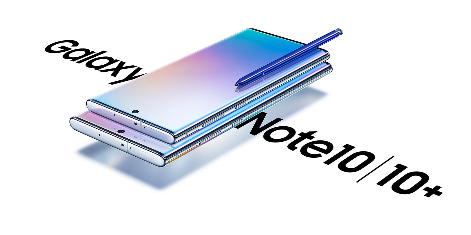 A photo of Samsung Galaxy Note 10 and Note 10 Plus