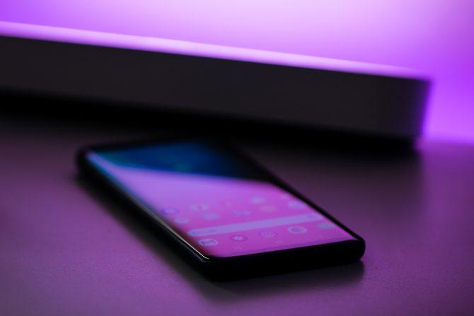 A photo of a Samsung smartphone, compact design