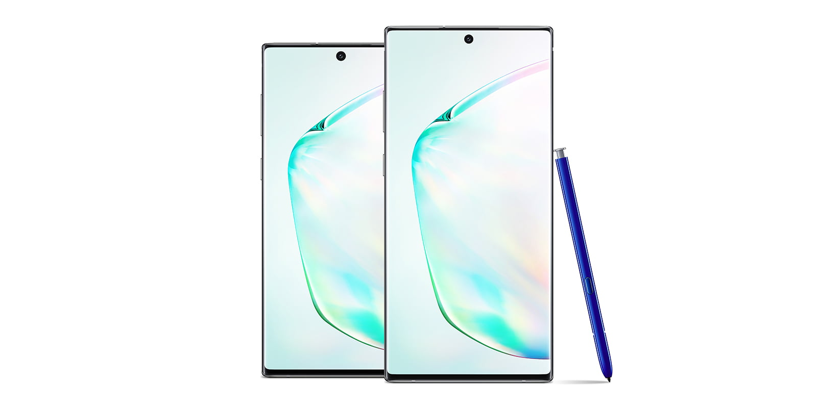 Photo of Samsung Galaxy Note 10 and Note 10 Plus from front