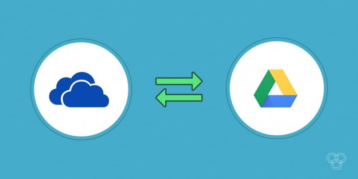 how to sync Google drive and OneDrive