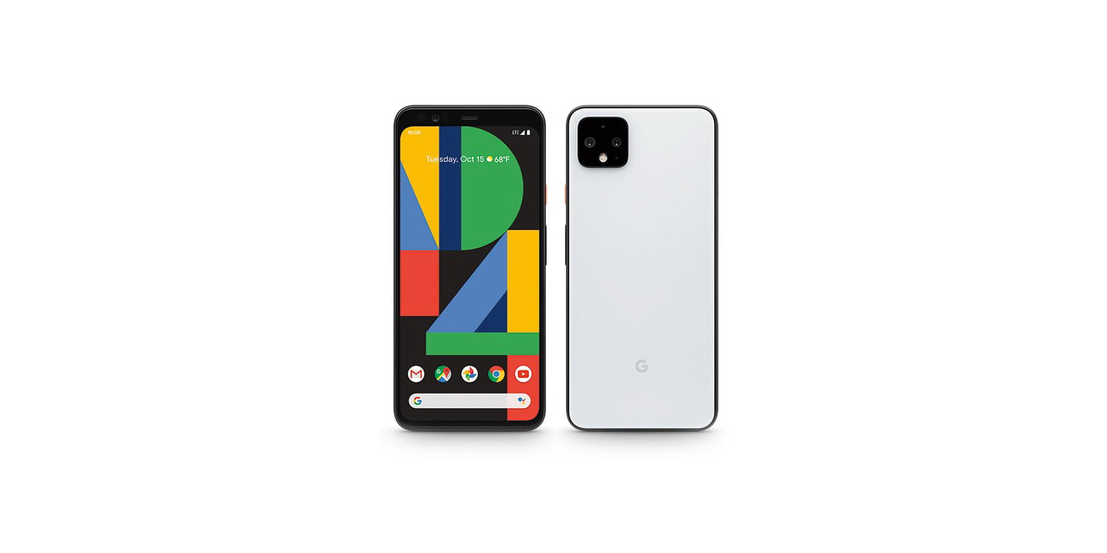 Pixel 4 phone in Clearly White Color