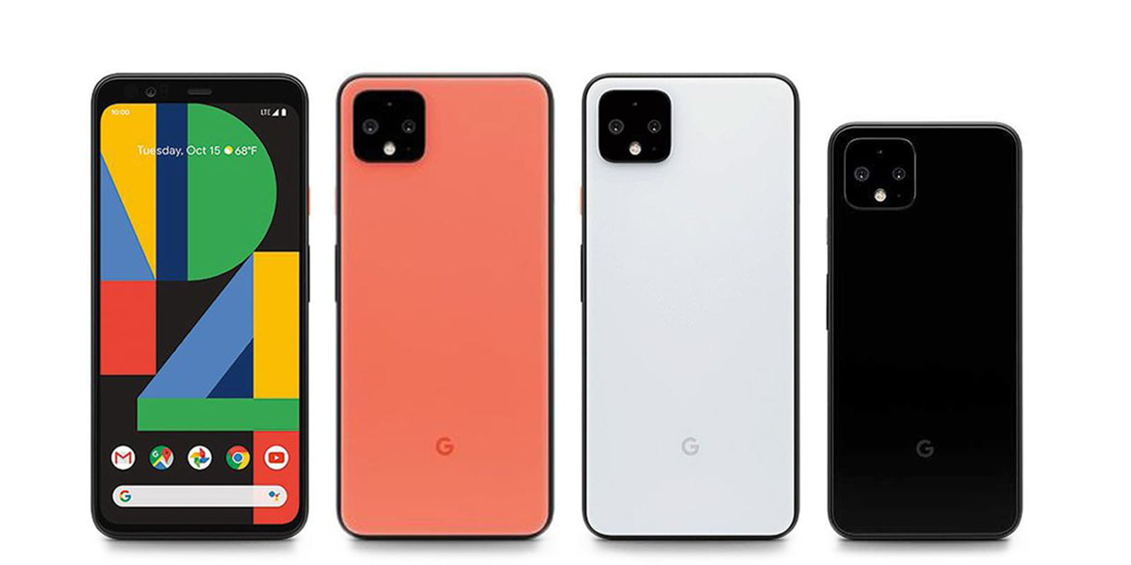 google pixel 4 different colors