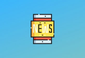 A featured image design for best tech news app