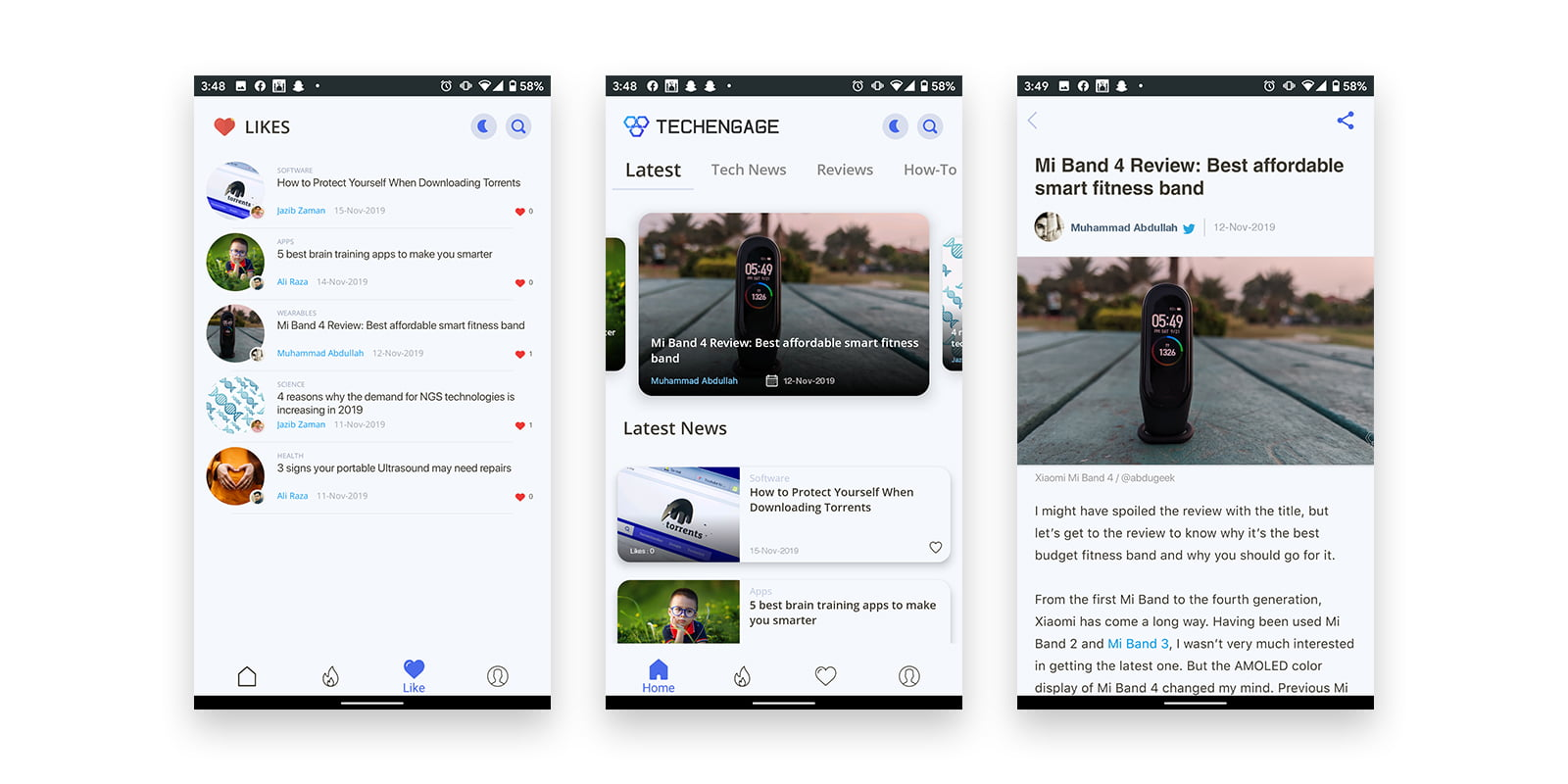 TechEngage app screenshots, latest technology news app