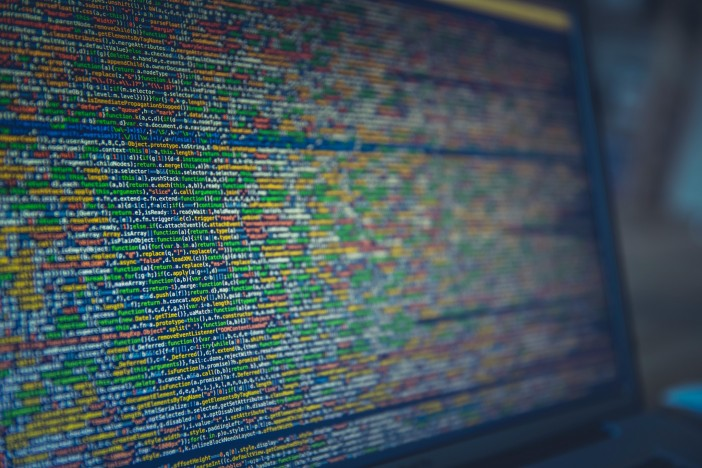 A photo of code on a screen