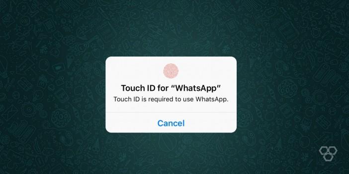 WhatsApp fingerprint lock android and iOS
